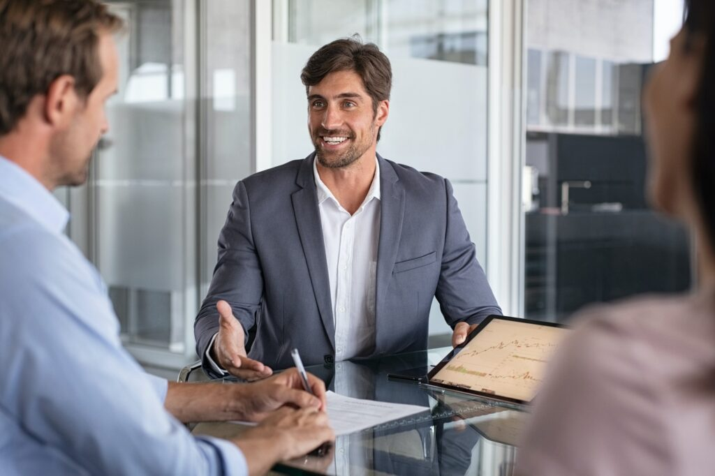 Financial advisor consulting